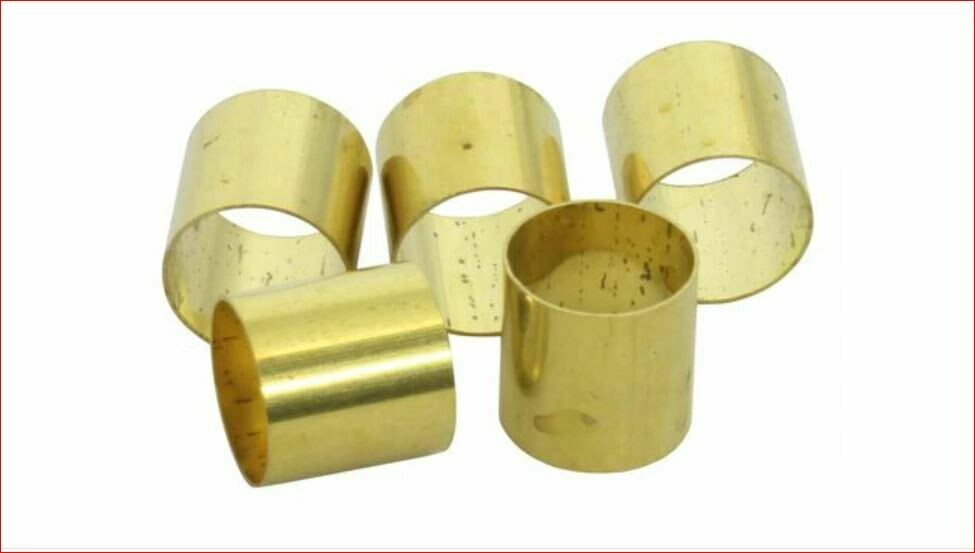 """Brio 5 Pack, Potentiometer Adapter Sleeve - Converts 6mm or 18T shaft to 1/4"""" ( Solid Shaft )"""