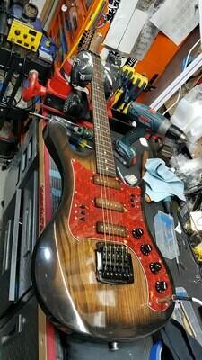 Carparelli Ural Guitar - Custom Made from Scratch Tobacco Brown Burst