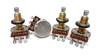 Alpha 24Φ/28MM Pot W/Brass Bushing, Audio Taper 500k - 4 Pack