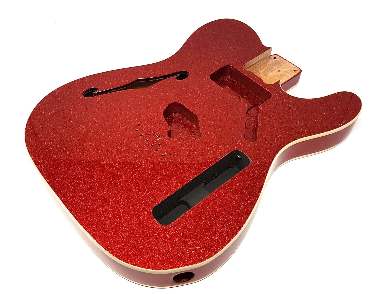 Brio Tele-Style Thinline Double Bound Red Sparkle