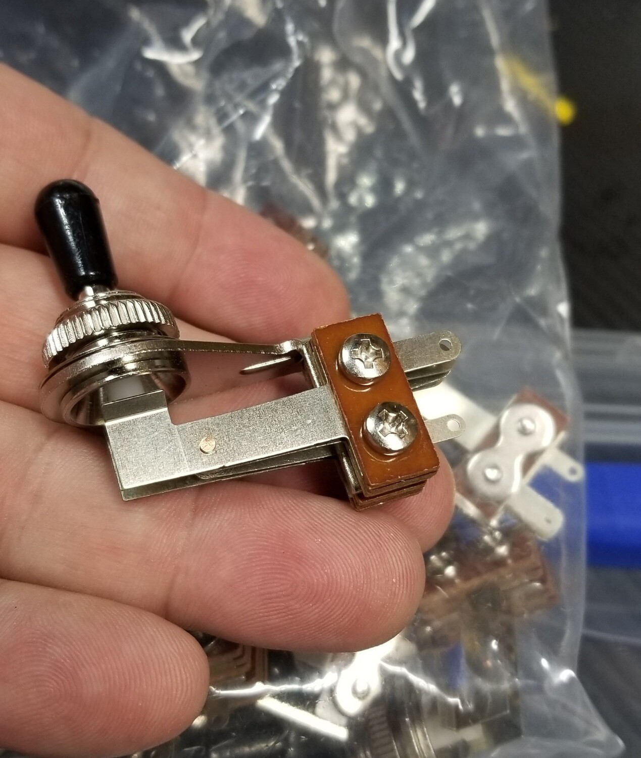 Brio Switchcraft Style right angle toggle switch SG Gibson