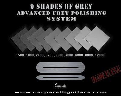 9 Shades of Grey Micro Mesh Fret Polishing Kit + 1 sq ft Conductive Copper Tape!