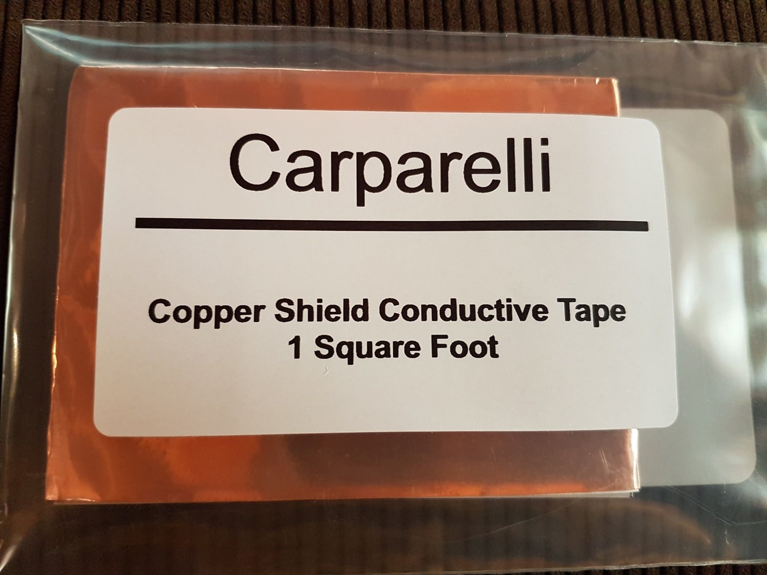 1 Square Foot Copper shielding tape with conductive adhesive.