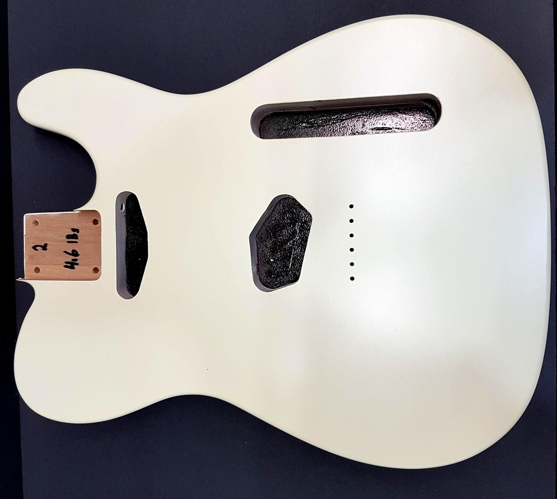Tele Body Vintage White Nitro Satin 2pc Alder 4.6lbs