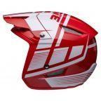 Jitsie HT1 polycarbonate Helmet Red/White-Struktur