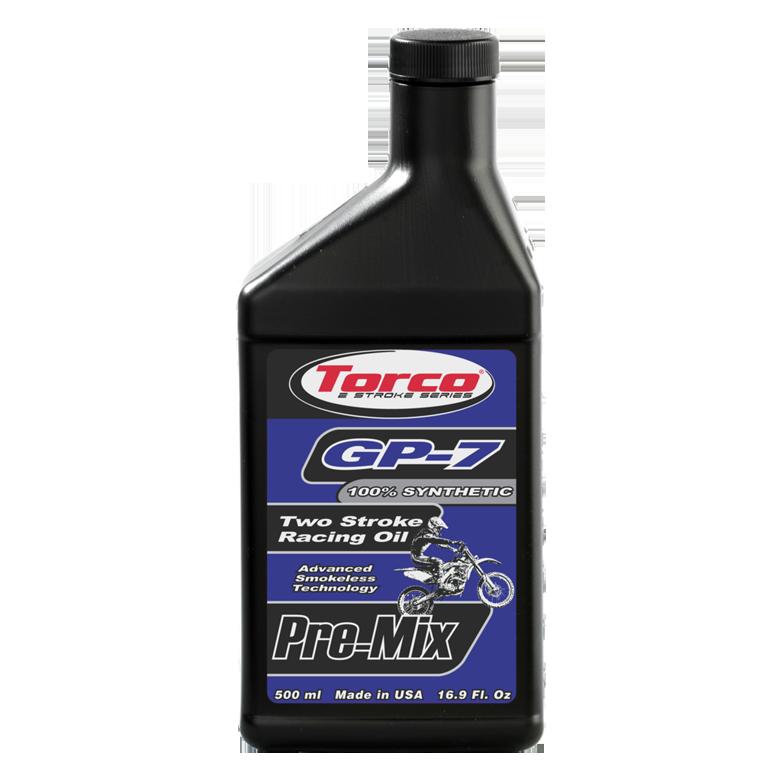 Torco GP-7 Two Stroke Racing Oil - Pre-Mix - Smokeless (1/2 Liter)