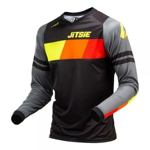 New* Jitsie l3 lines jersey black/Grey/Fluo Yellow