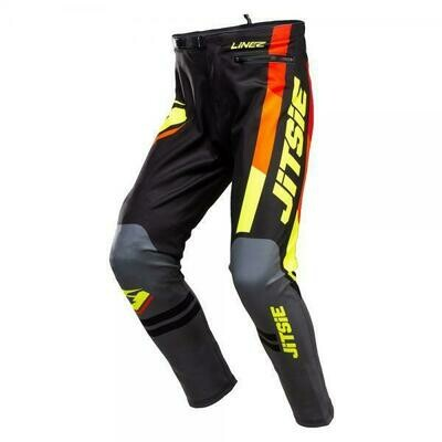New* Jitsie L3 Lines Pants Black/Grey/Fluo Yellow