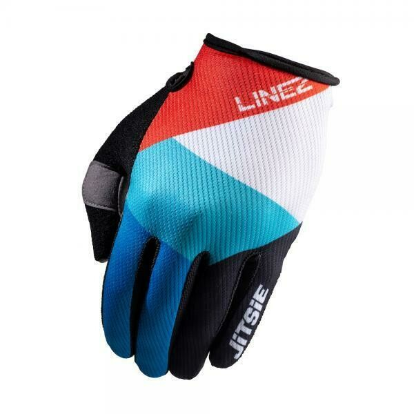 New* Jitsie G2 Lines Gloves Black/Red/Blue