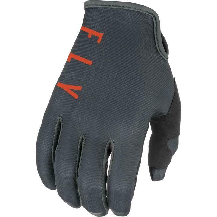 Gloves, Lite, Grey/Orange/Black