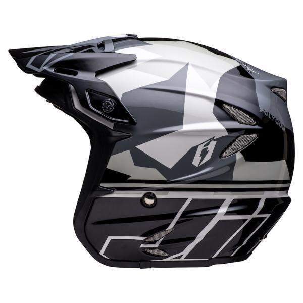 Helmet, HT2, Polygon, Black/Silver/Grey
