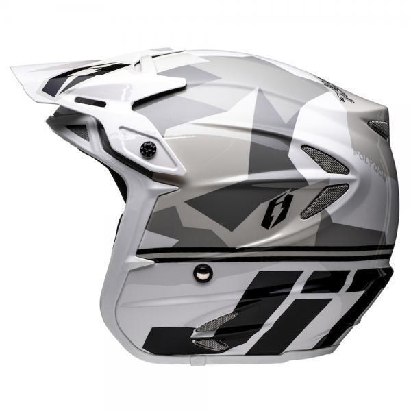 Helmet, HT2, Polygon, White/Black/Grey