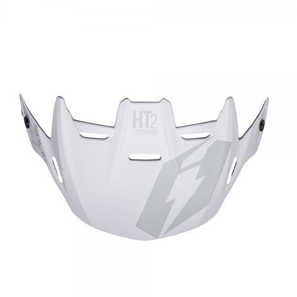 Helmet, Visor, HT2, Solid, White/Grey, Jitsie