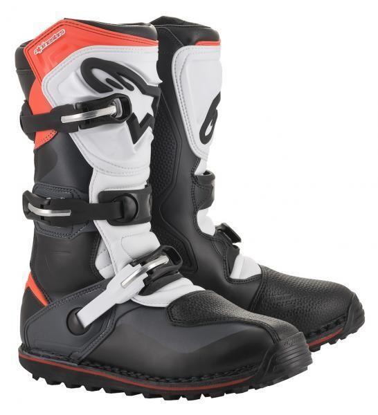 Boots, Trials, Tech T, Alpinestars (Black/Gray/Red)