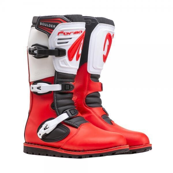 Boots, Trials, Boulder LE, Red/White