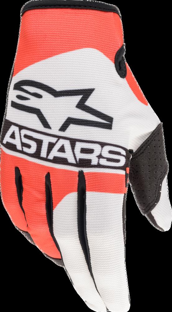 Gloves, Radar, White/Red Fluo/Blue