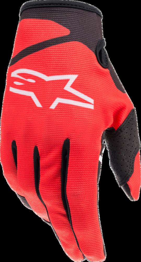 Gloves, Radar, Alpinestars (Bright )Red/Black