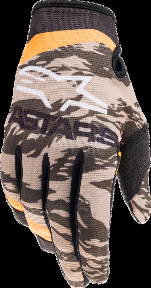 Gloves, Radar, Alpinestars (Military Sand Camo/Tangerine)