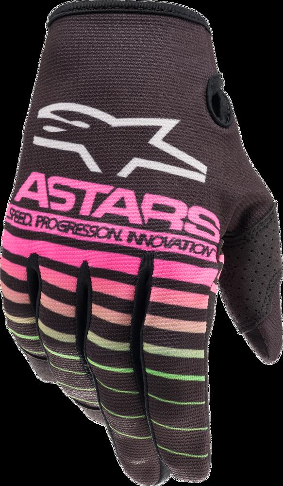 Gloves, Radar, Black/Green Neon/Pink, Kids
