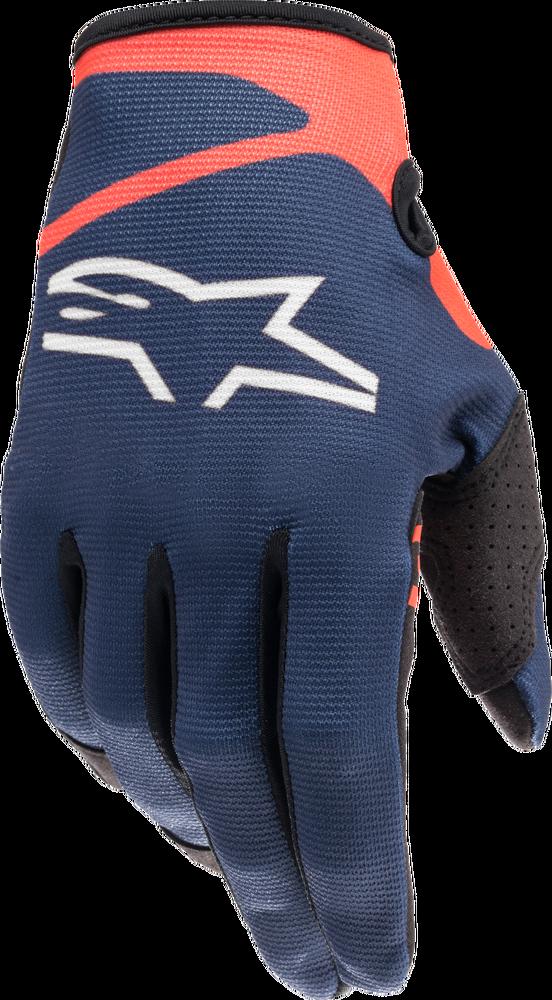 Gloves, Radar, Blue/Red Fluo