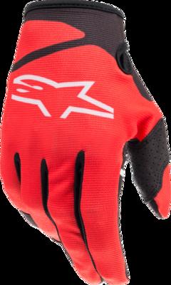 Gloves, Radar, Bright Red/Black, Kids