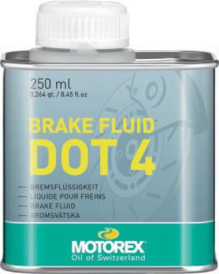 Brake Fluid, DOT 4, 8.45 FL OZ, Motorex