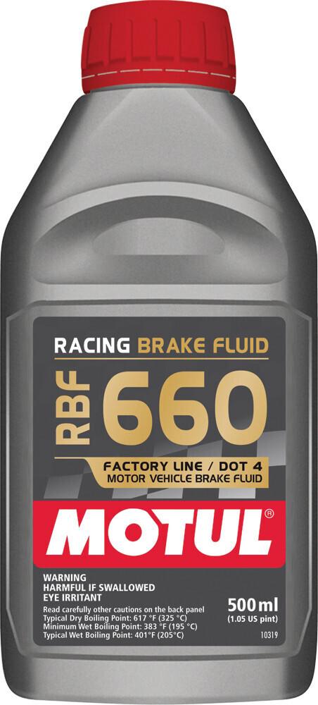Brake Fluid, RBF 660, 16.9 FL OZ, Motul