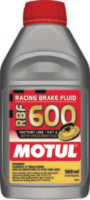 Brake Fluid, RBF 600, 16.9 FL OZ, Motul