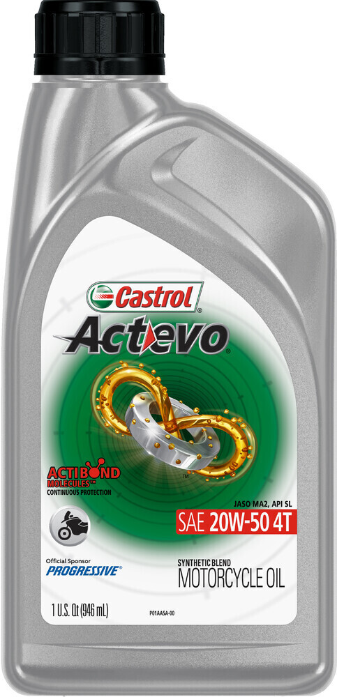 Oil, Engine, Synthetic Blend, Actevo, 20W40 4T, Castrol