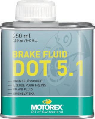 Brake Fluid, DOT 5.1, 8.45 FL OZ, Motorex
