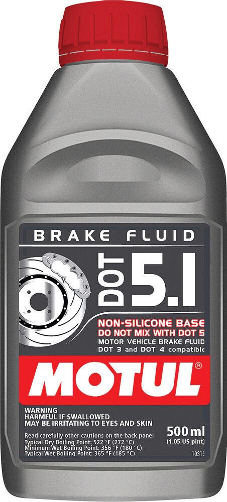Brake Fluid, DOT 5.1, 16.9 FL OZ, Motul