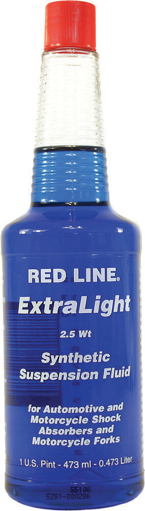 Suspension Fluid, Synthetic, 2.5W, 16 OZ, Red Line