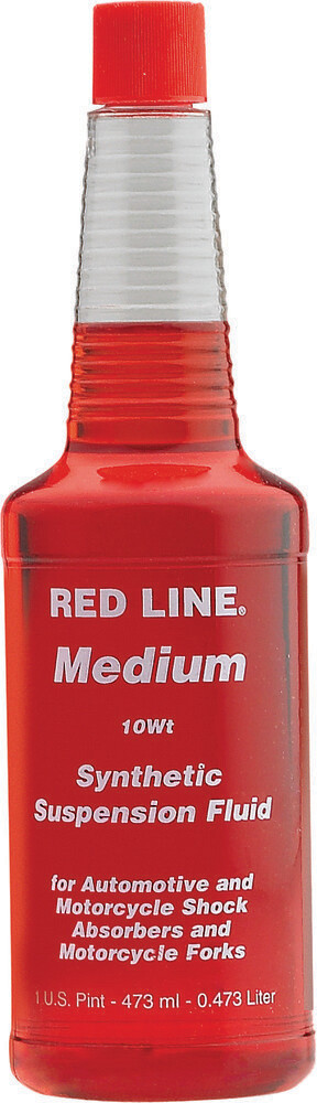 Suspension Fluid, Synthetic, 10W, 16 OZ, Red Line