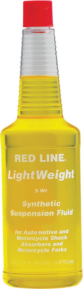 Suspension Fluid, Synthetic, 5W, 16 OZ, Red Line