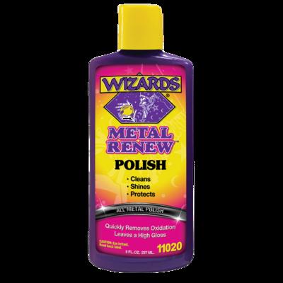 Polish, Liquid, Metal Renew, 8 OZ, Wizard's