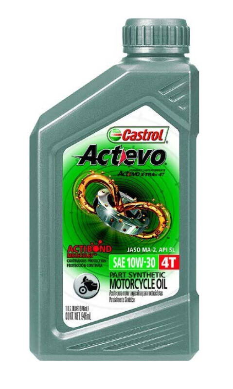 Oil, Engine, Synthetic Blend, Actevo, 10W30 4T, Castrol