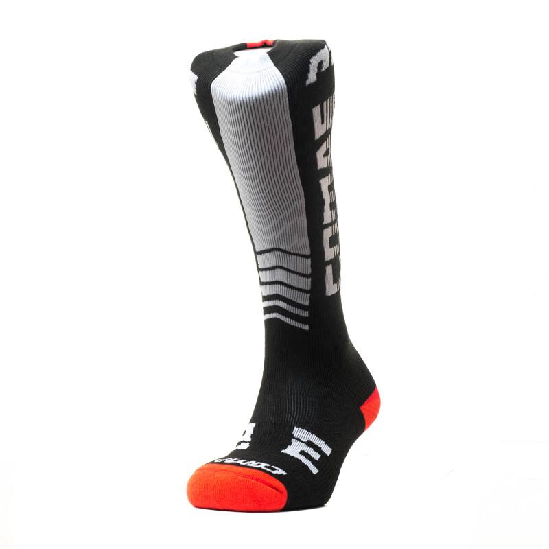 Socks, Long, COMAS (Black/White/Red)