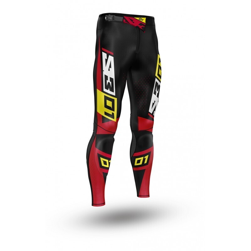 Pants, Collection 01, Black/Red, S3