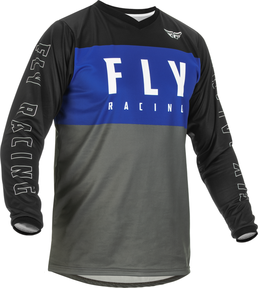 Jersey, F-16, Fly Racing (Blue/Grey/Black)