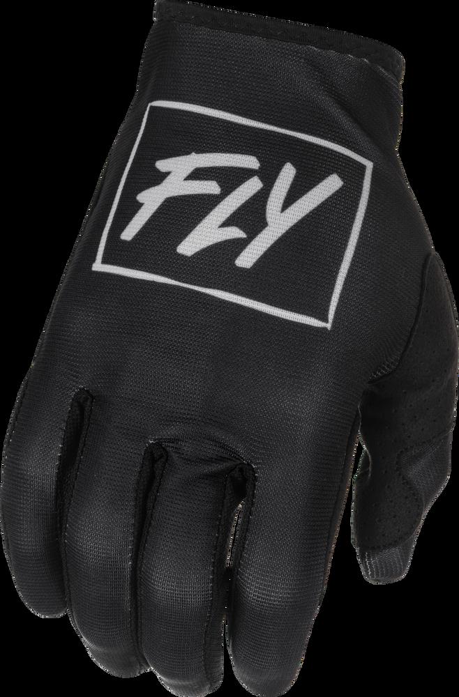 Gloves, Lite, Youth, Fly (Black/Grey)