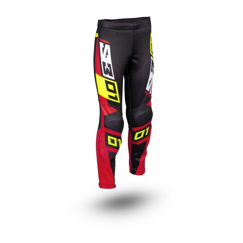 Pants, Collection 01, Black/Red, S3 (Kids)