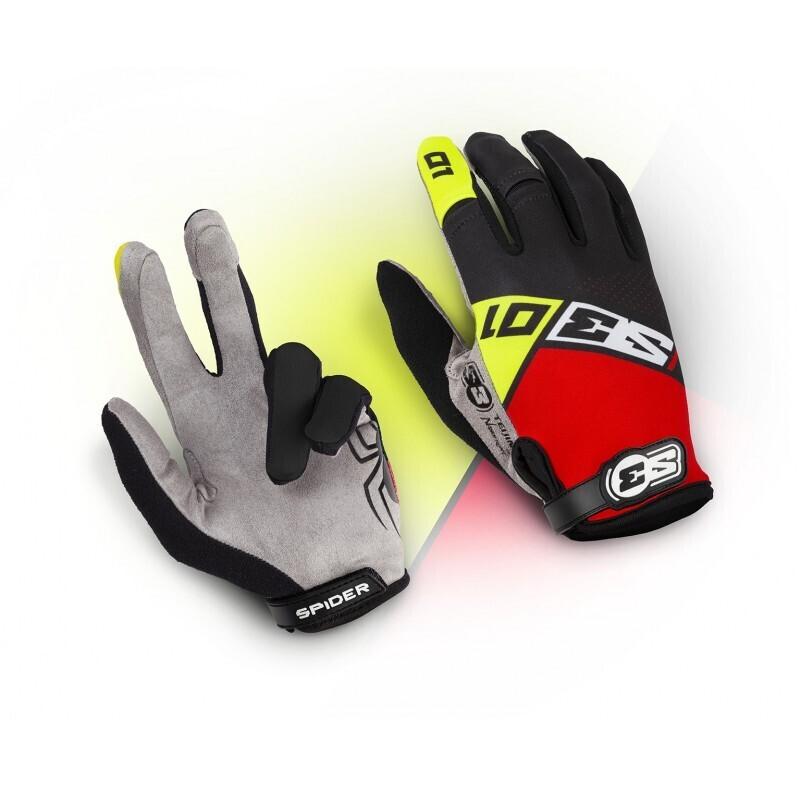 Gloves, Spider, Black/Red, S3