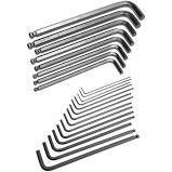 Hex Key Set - 22 Piece Ball End - SAE & Metric