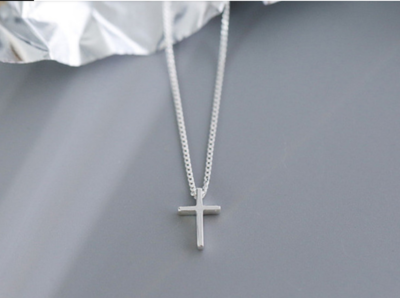 WAS $19.95 - 50% OFF! 925 Sterling Silver Cross Necklace