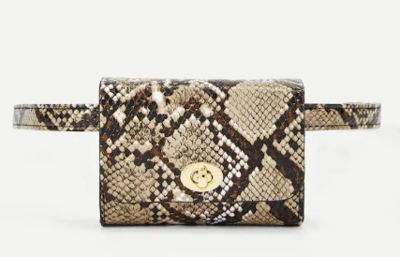 WAS $24.95 - 40% OFF Gorgeous Trending Snakeskin Print Fanny Pack