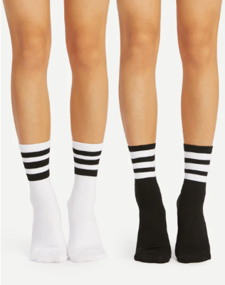 WAS $19.95 - 50% OFF! Trending Mid-Calf 2 Pair Striped Socks