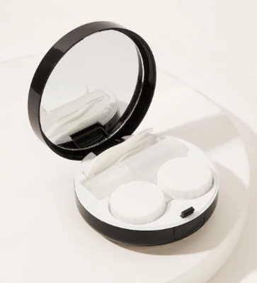 WAS $19.95 - 50% OFF 5 Piece Contact Lens Travel Case Includes, Compact, Mirror, Case, Tweezer, Solution Bottle & Wand.