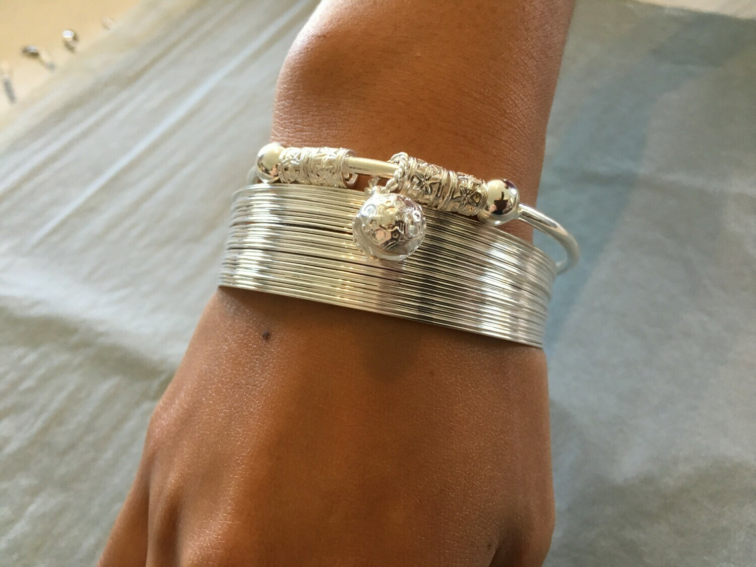 Was $64.90 - Now 58%OFF - Combine 2 Sterling Silver Bangle Cuffs for This Gorgeous Fashionable Look