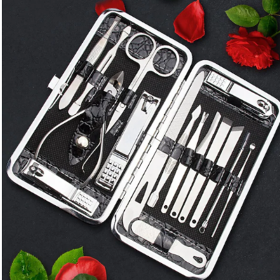 WAS $19.95 - 30% OFF! 16 Piece Nail Clipper Set in Gorgeous Black Case