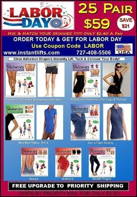LABOR DAY SALE! PICK TWO Mix & Match Skinnies 25 Pair $59!  Only $2.36 a Pair! Use Coupon Code